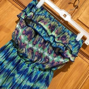 Maurices high low strapless dress